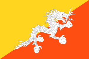bhutan flag colors