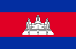 cambodian flag national colors