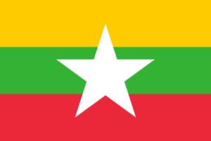 myanmar flag color codes